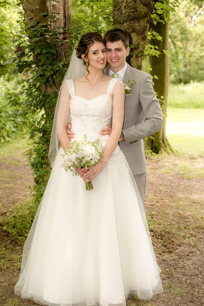 bride and groom portraits in bluntswood