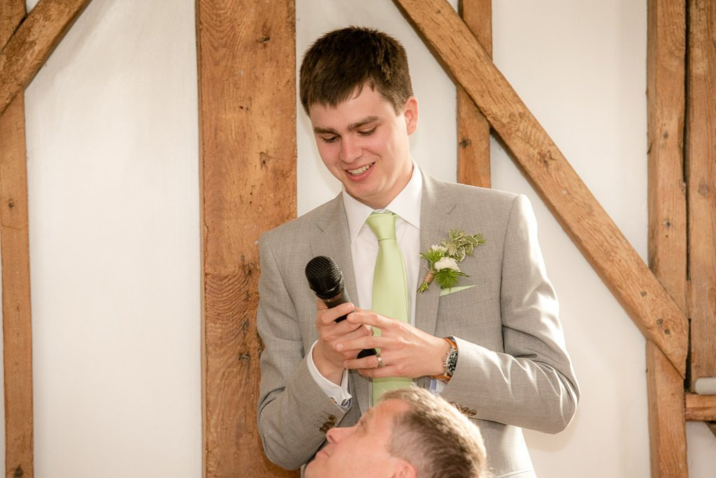the groom making his wedding speech