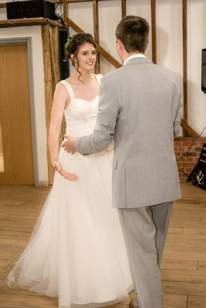 first dance at milling barn