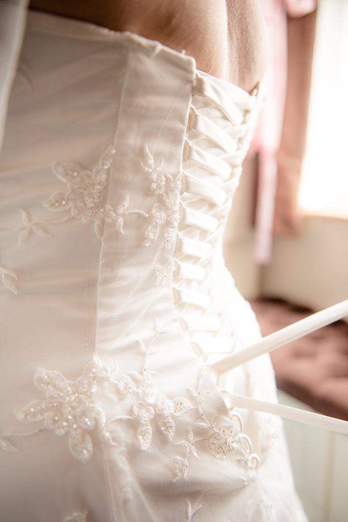 Wedding dress bussle
