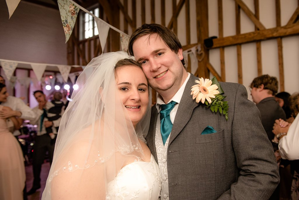 Bride and groom at Milling Barn
