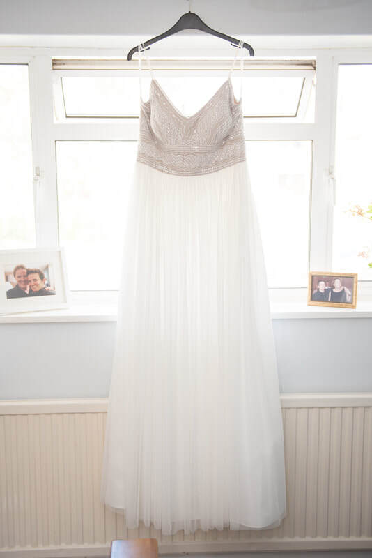 The beautiful two toned wedding dress