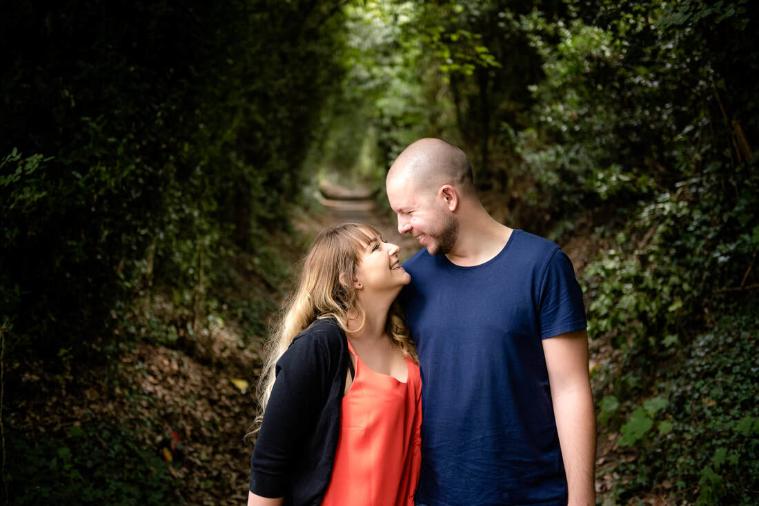 Engagement shoot in Stevenage Fairlands Valley Park