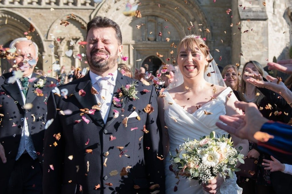 The church ceremony in Bedfordshire