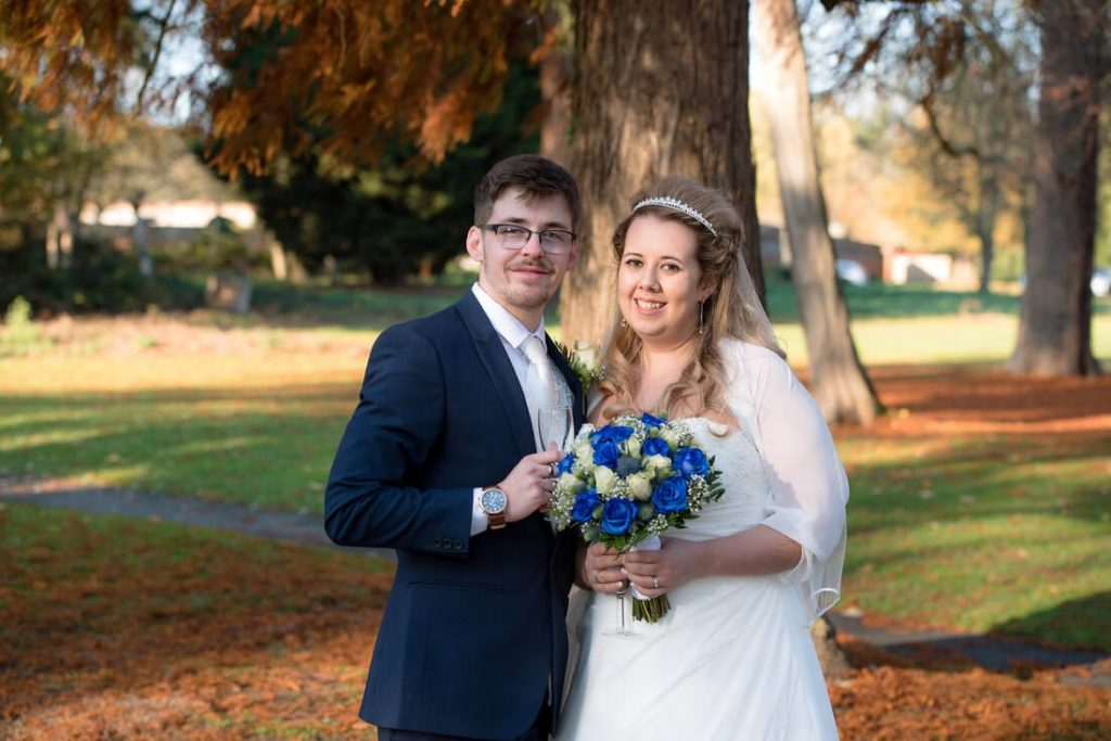Emma and Luke at Ridings Barn Cheshunt