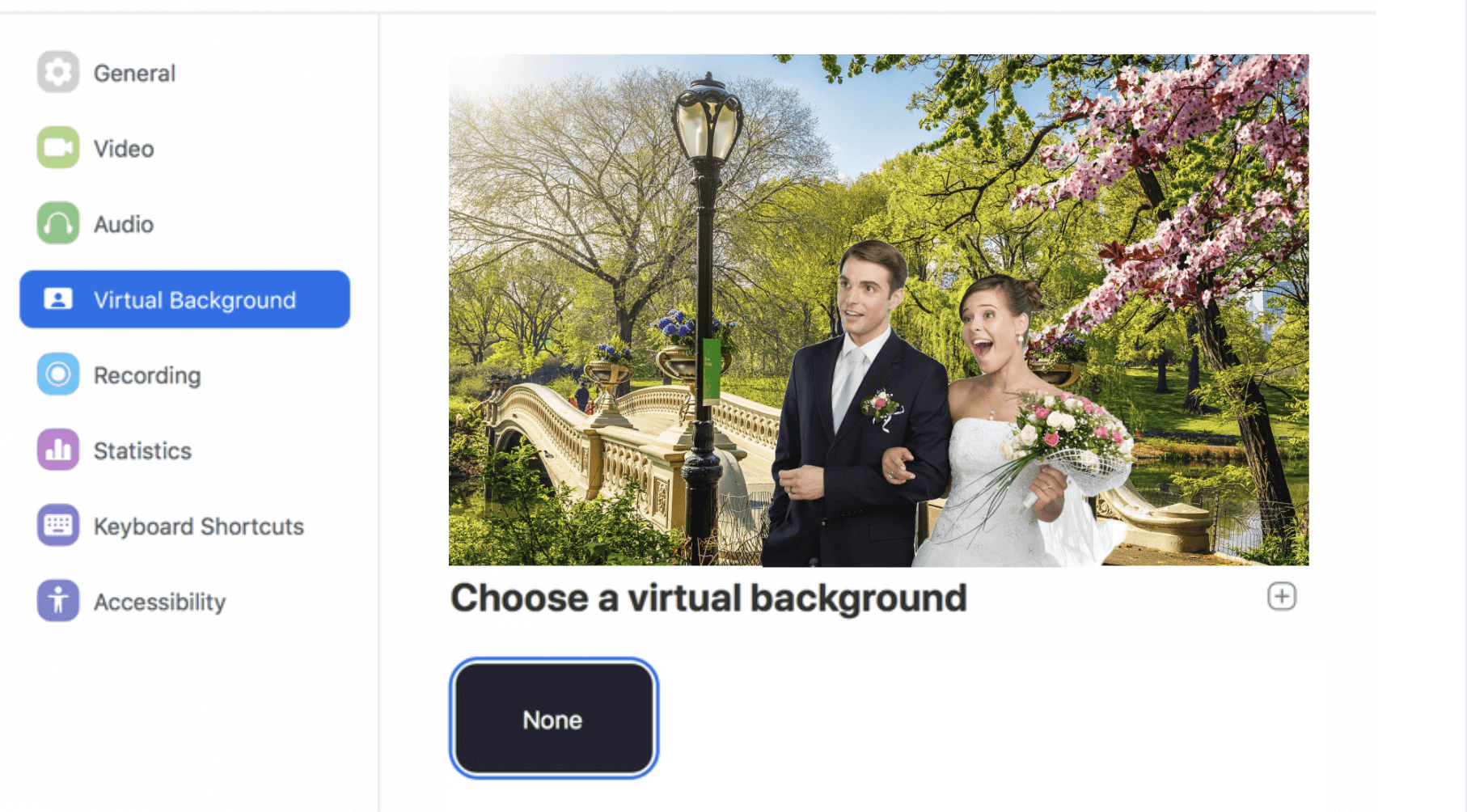 Instagrammable background for your virtual wedding