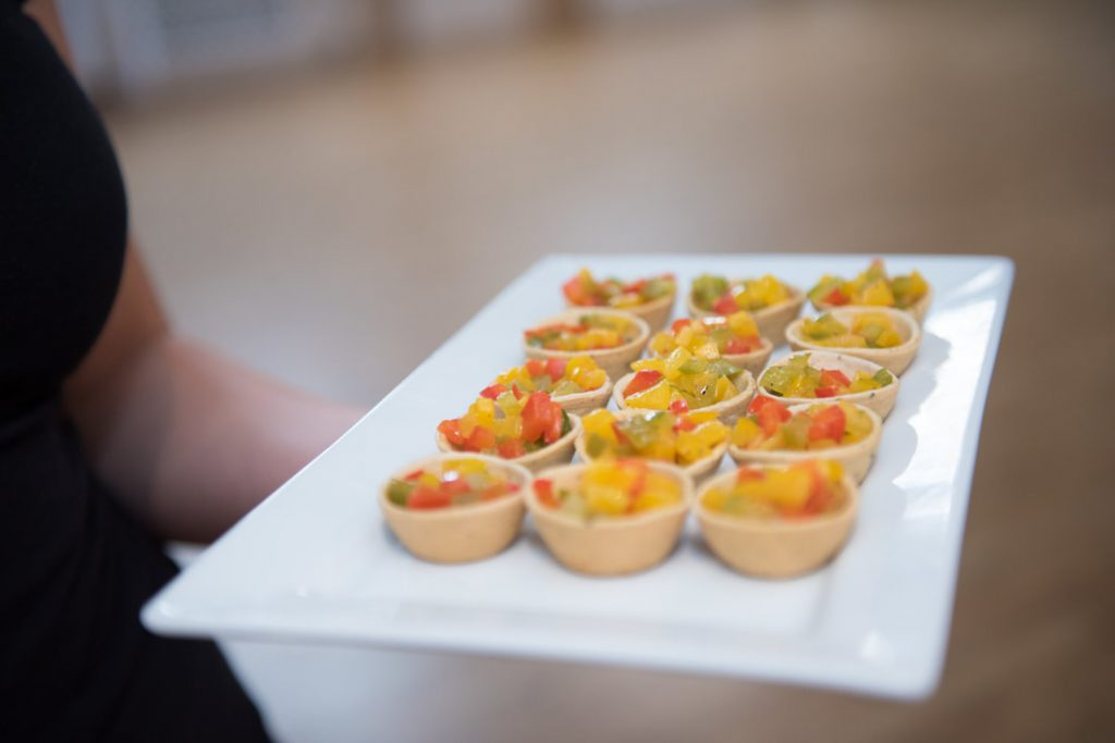 A plate of delicious canapes