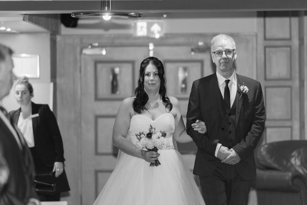 The father of the bride and his daughter
