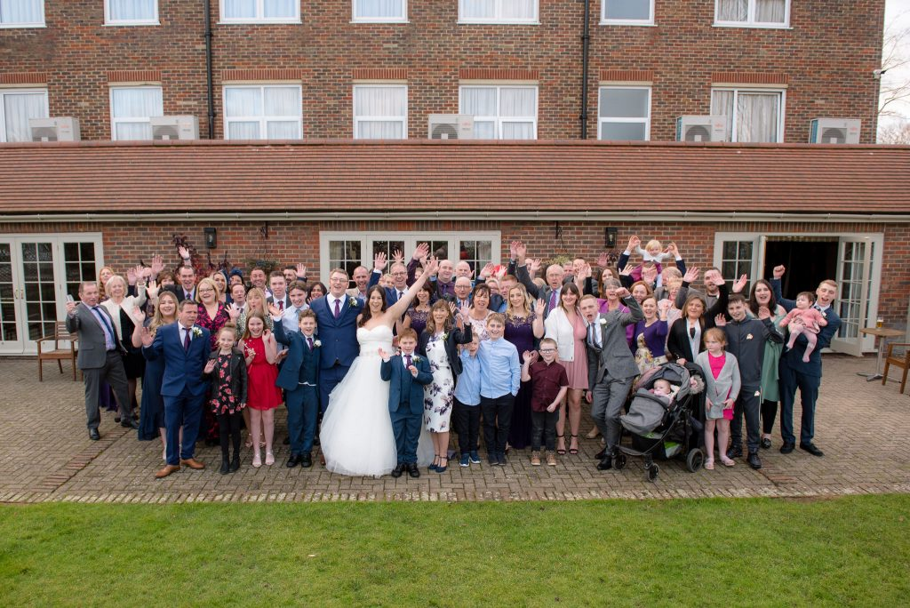 The group photo at the Cromwell Hotel in Stevenage