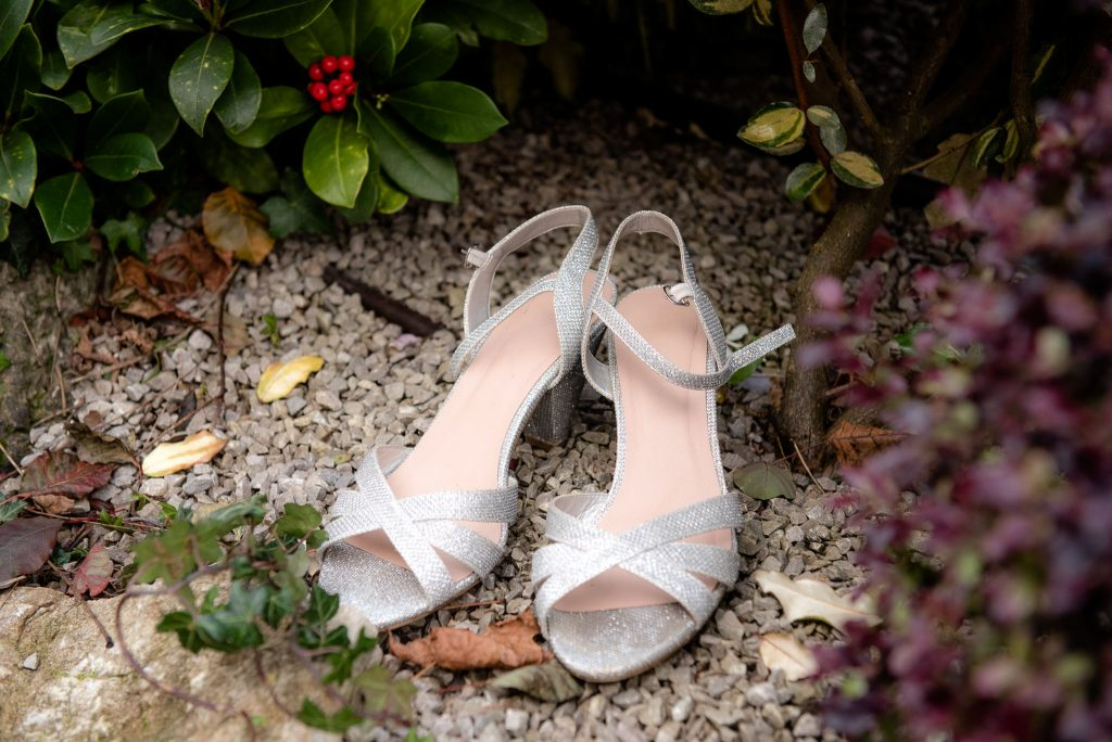 The bride's shoes at the cromwell hotel