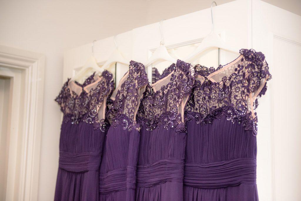 The bridesmaids' dresses