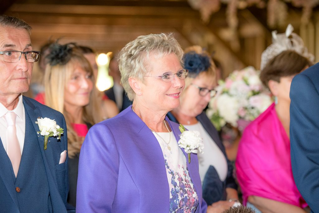 Guests enjoying the wedding ceremony