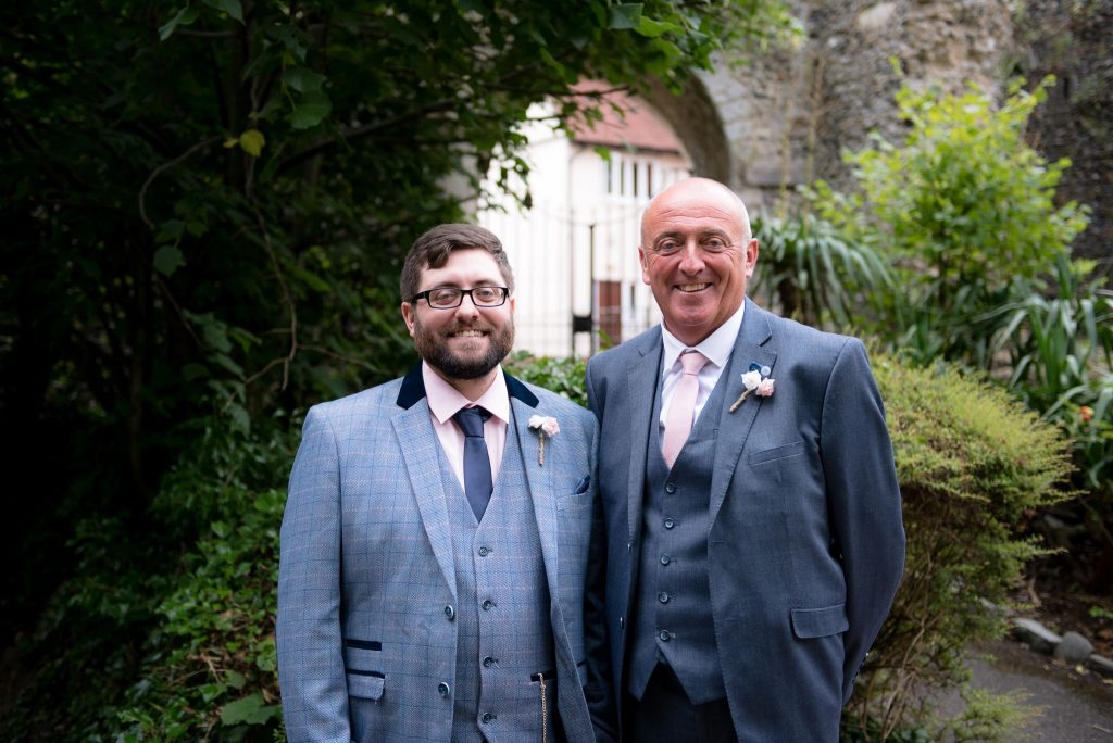 The groom and his father