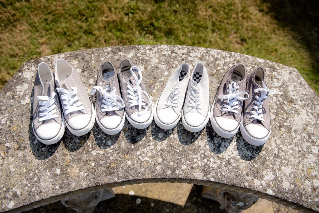 The bridal party shoes