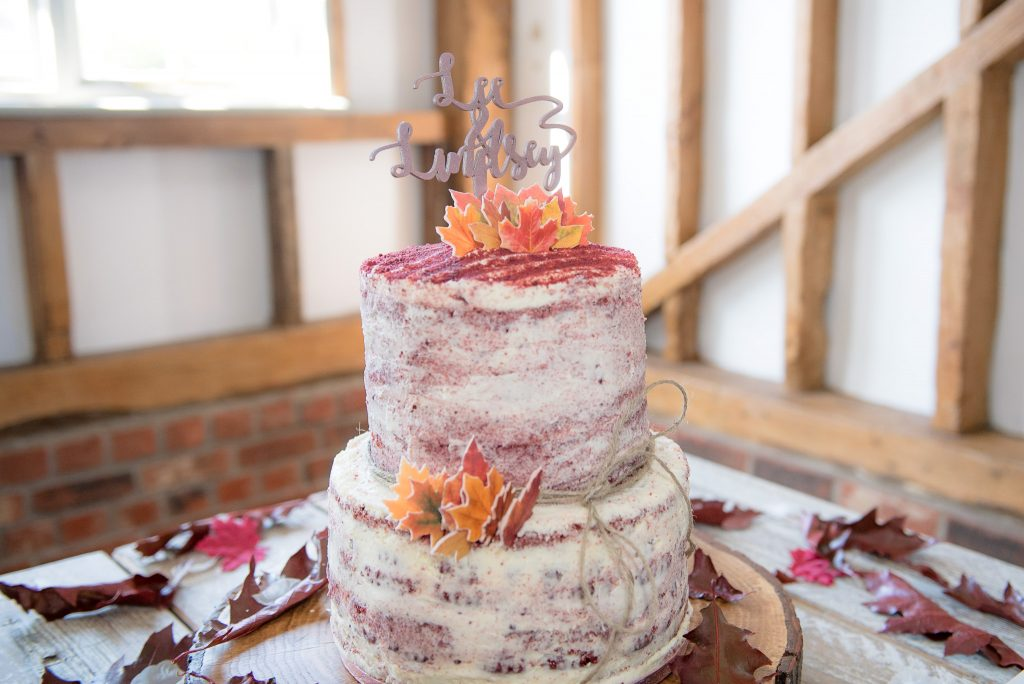 The wonderful wedding cake at milling barn