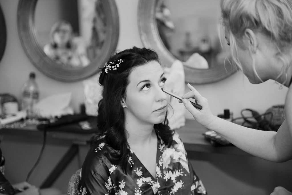 bridal preparations at bluntswood hall