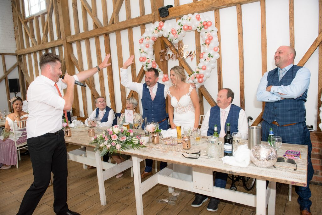 The singing waiters at milling barn
