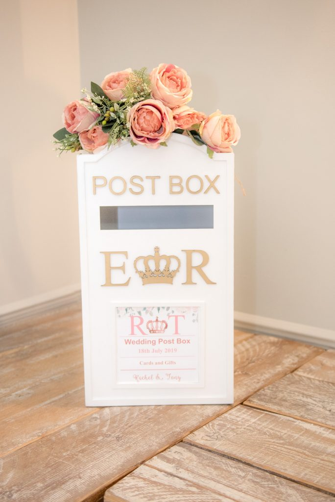 Wedding postbox for cards and gifts