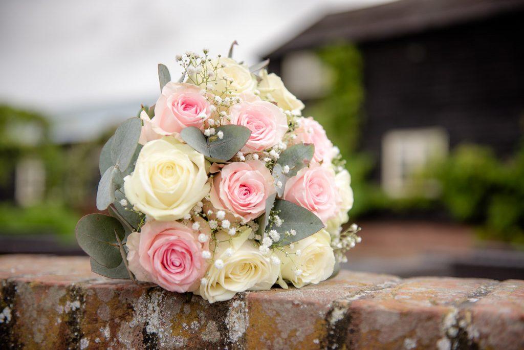 The bridal wedding bouquet