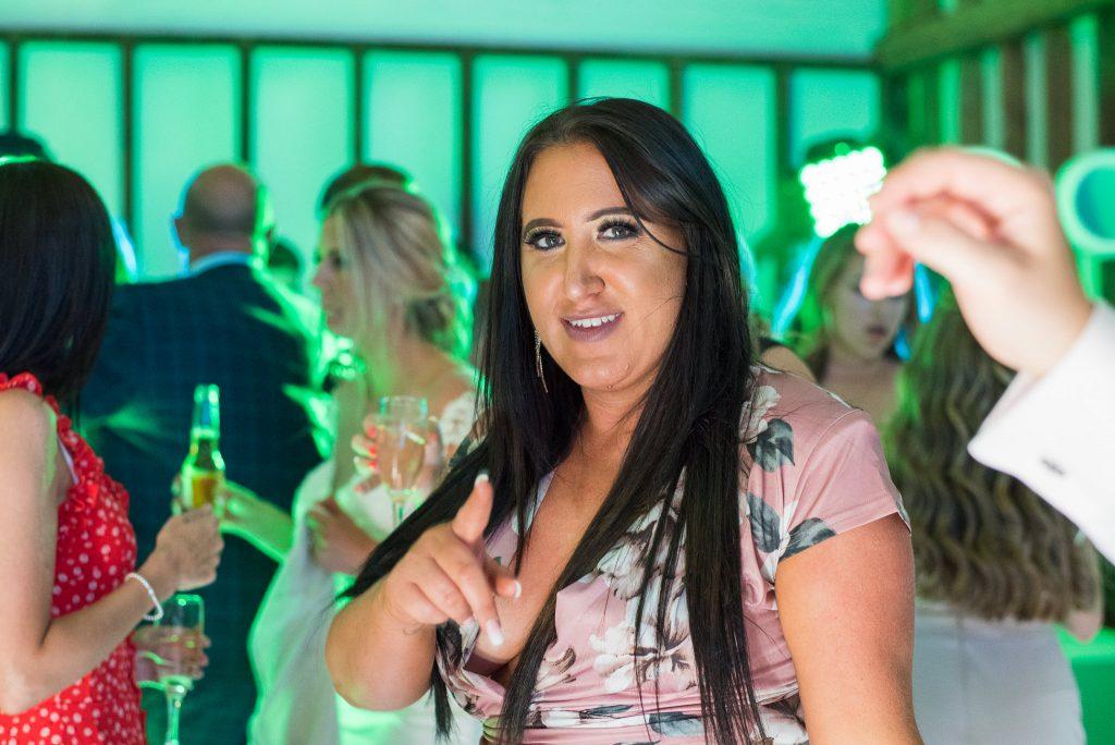Guests dancing at the Milling Barn Wedding