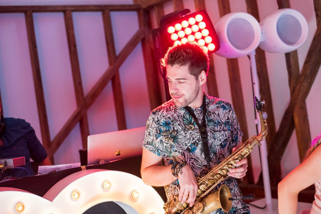 Saxophonist at Milling Barn