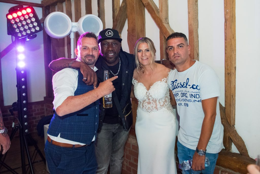 DJ Luck & MC Neat and the Bride and Groom
