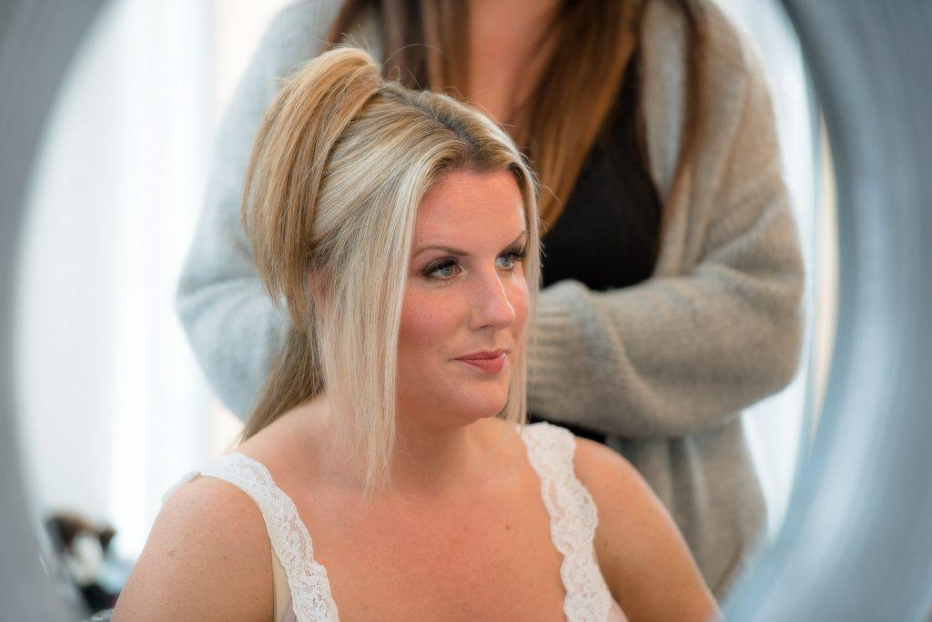 Bridesmaid hairstyling