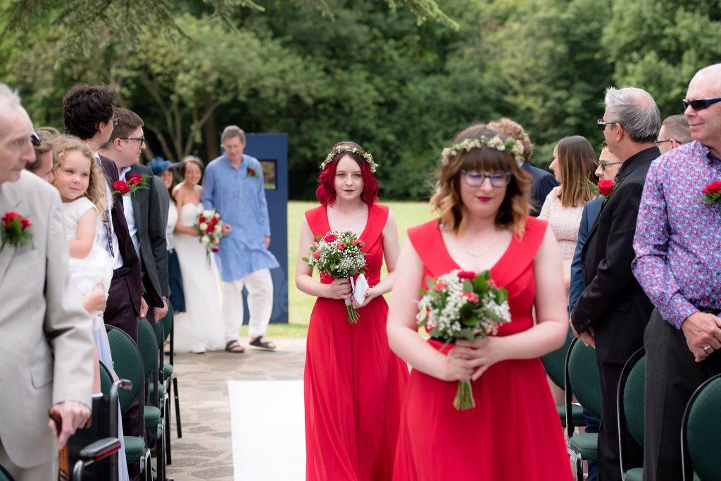The entrance of the bridal party