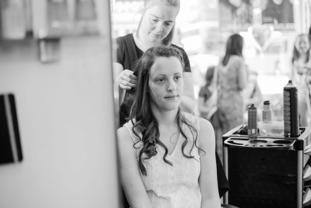 Bridal preparations at Lisa N Girls