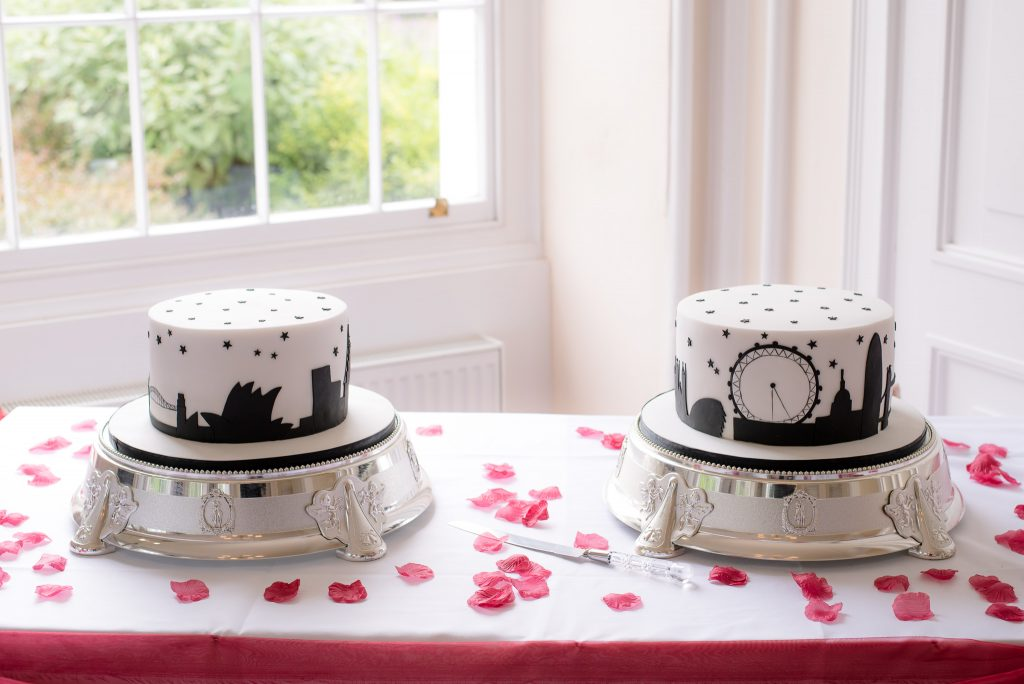 The two wedding cakes