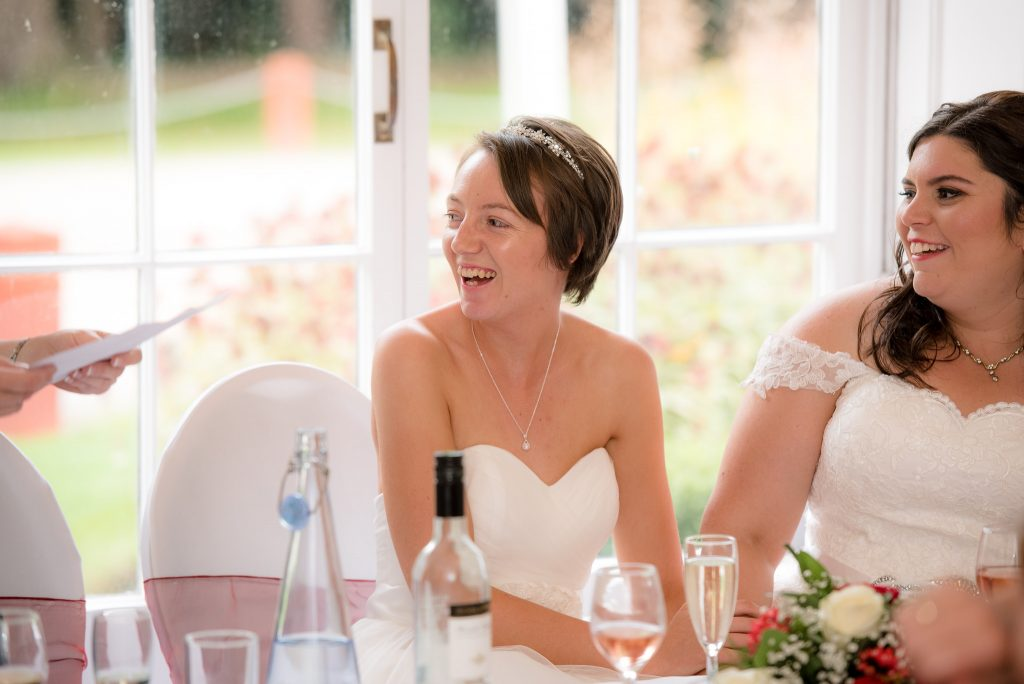 A natural reaction to the wedding speeches