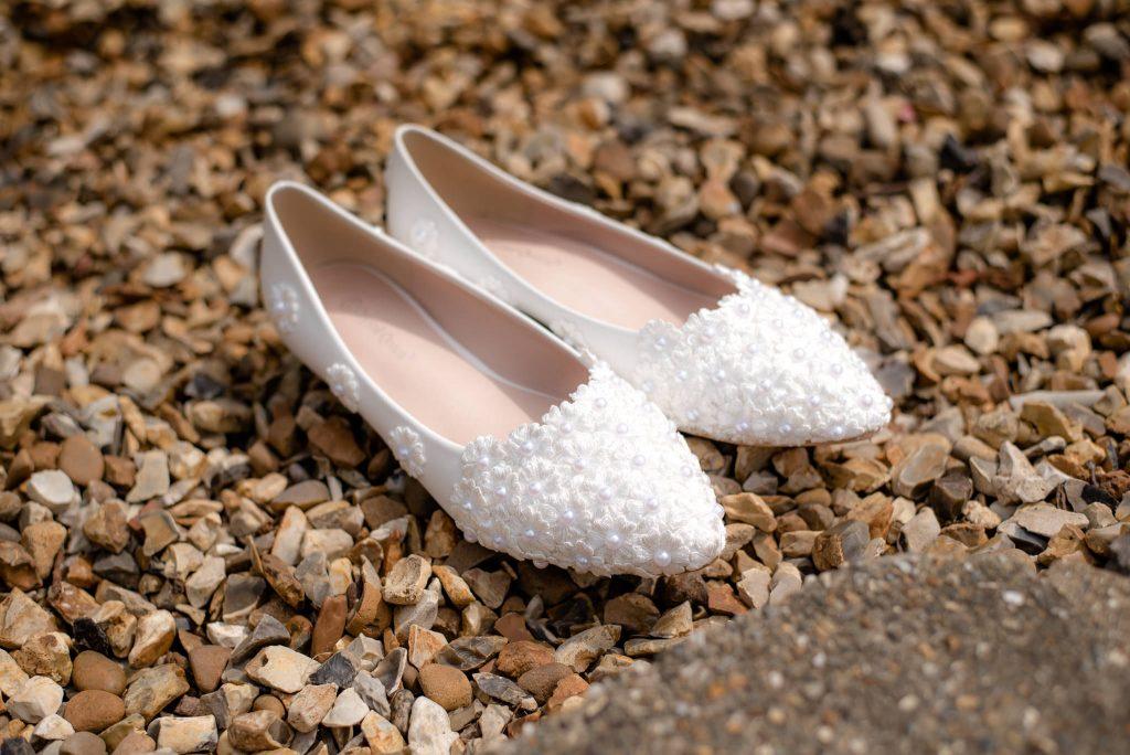 Wedding Shoes on gravel
