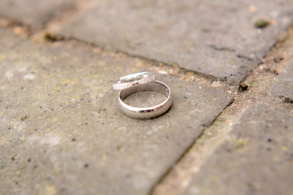 The wedding rings at St Albans Registry Office