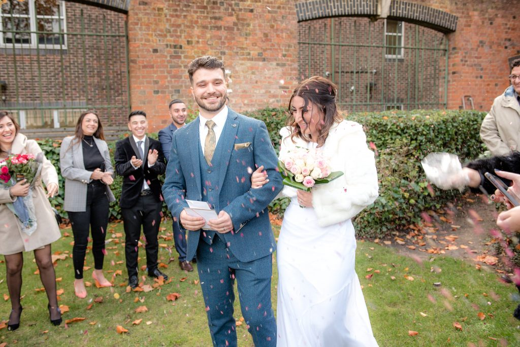 The confetti shot at St Albans Registry Office