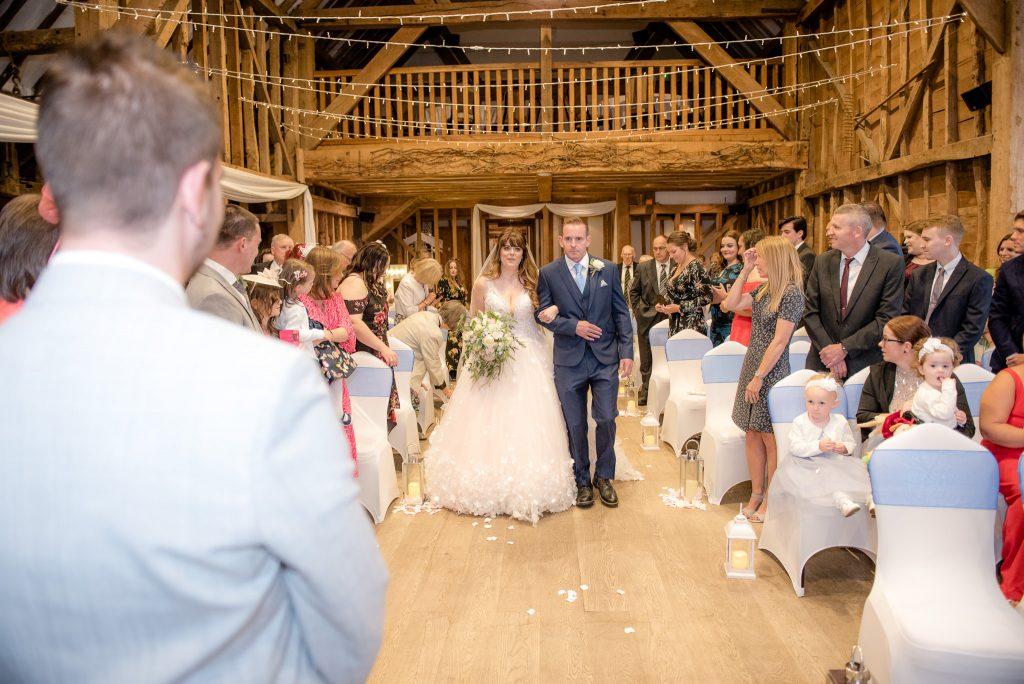 The bride at Tewin Bury Farm wedding venue