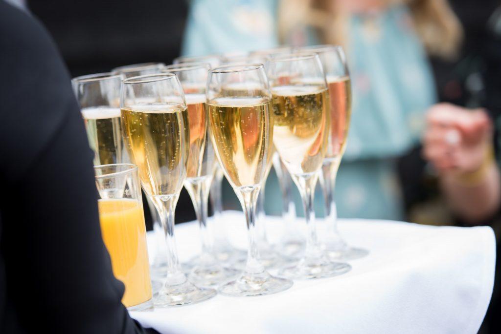 Drinks reception at Tewin Bury Farm