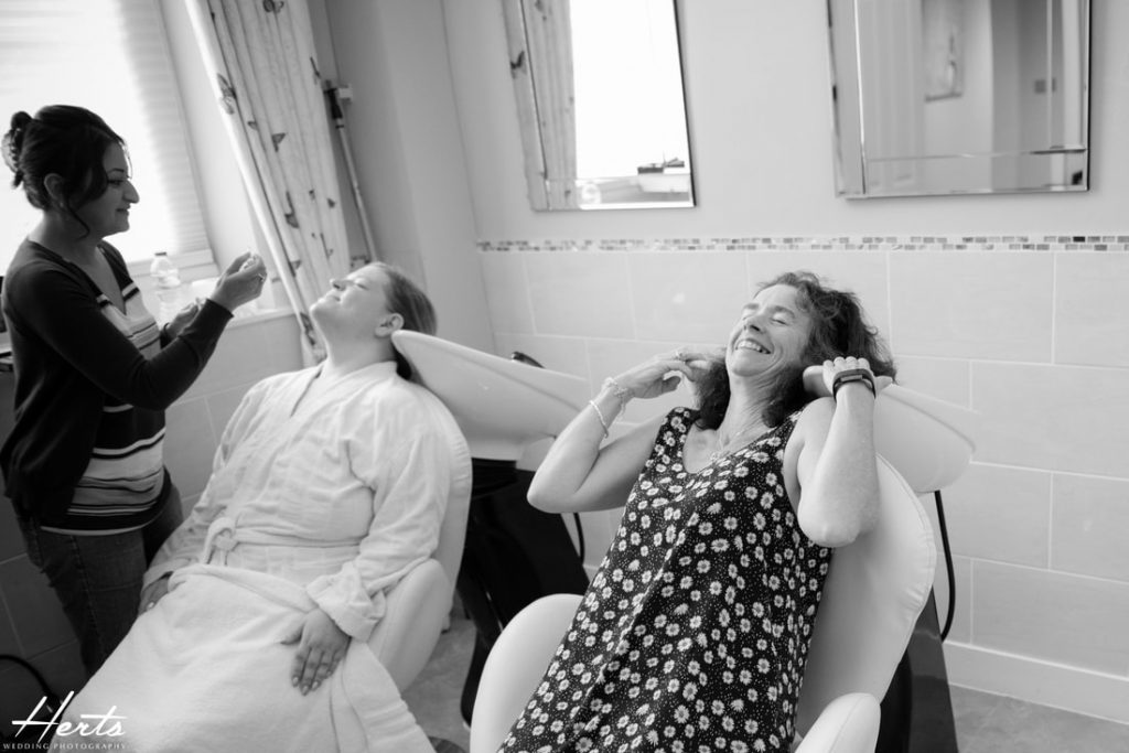 The bridal preparations at Gosfield Hall