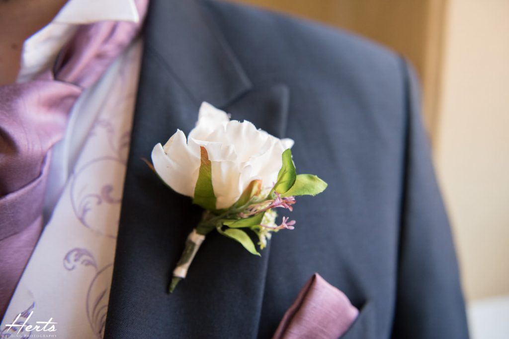 The grooms' buttonhole