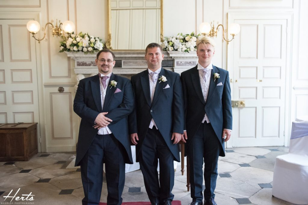 The groom and his best men get ready for the ceremony