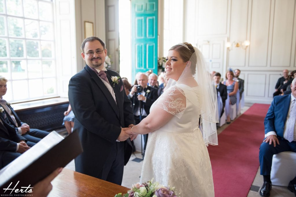 The wedding ceremony at Gosfield Hall