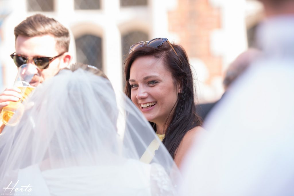 Guests enjoy each other's company at Gosfield Hall