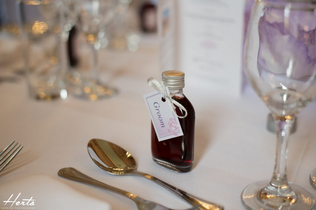 Wedding favours at Gosfield Hall