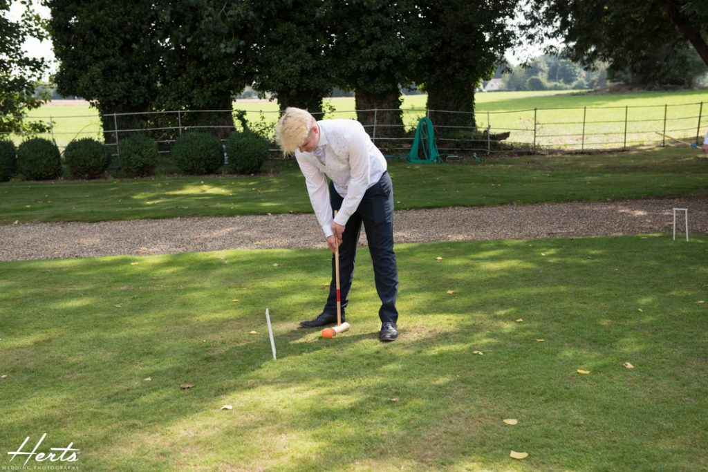 Guests play games at Gosfield Hall