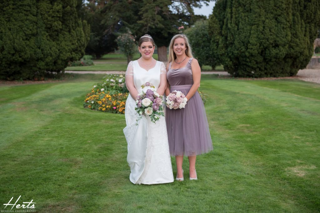 The bride and her sister