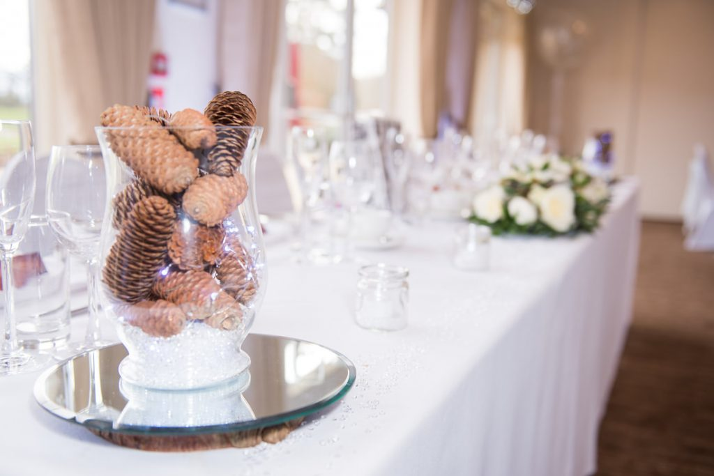 Table decorations at Aldwickbury Golf Club