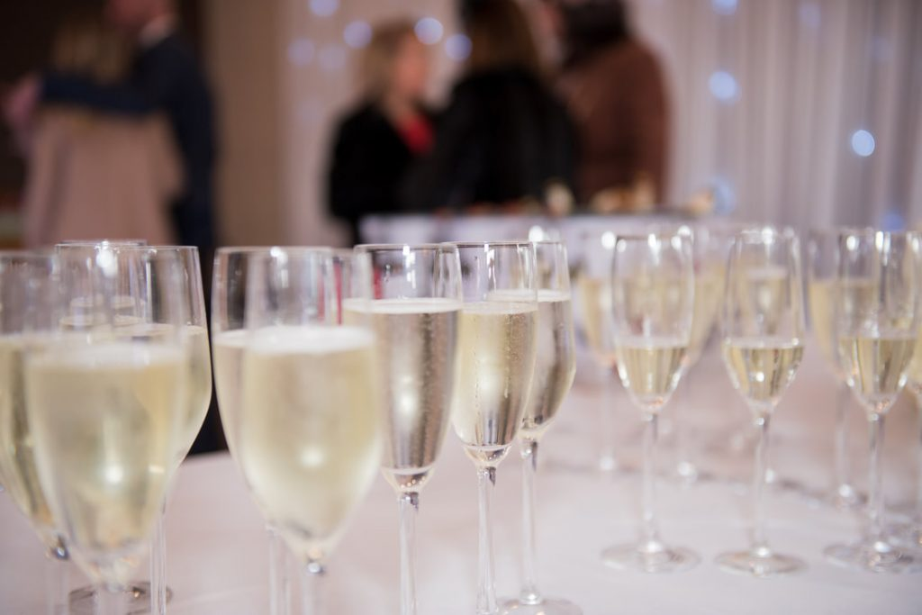 The drinks reception at Aldwickbury Park Golf Club