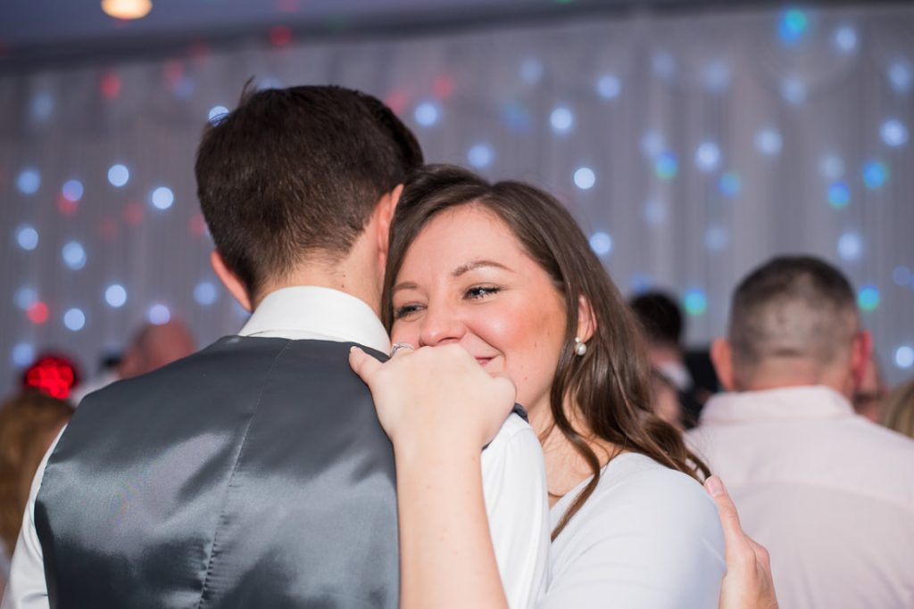 Guests dancing at the wedding