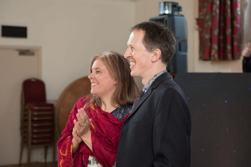 Guests enjoying the dancing at this intimate wedding