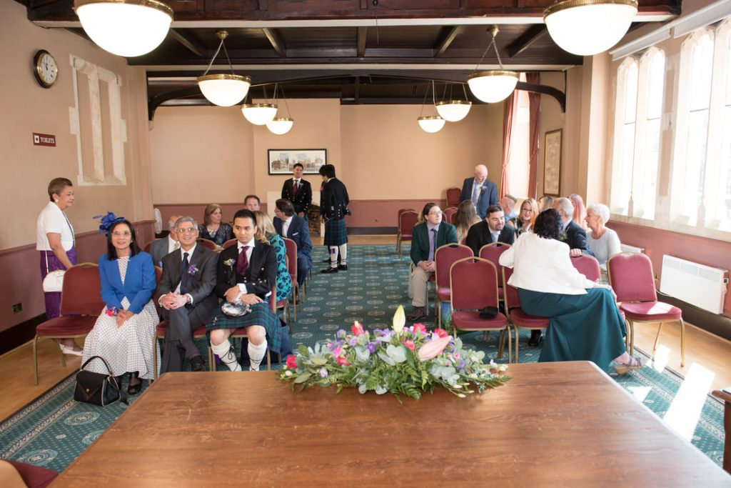 Guests awaiting the arrival of the bride