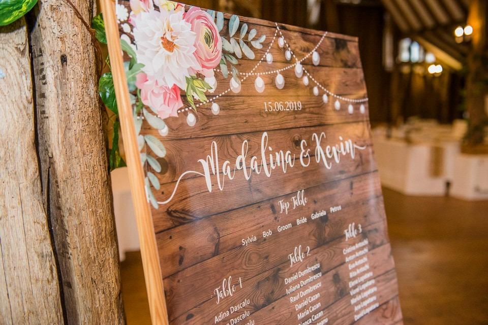 The wedding table plan